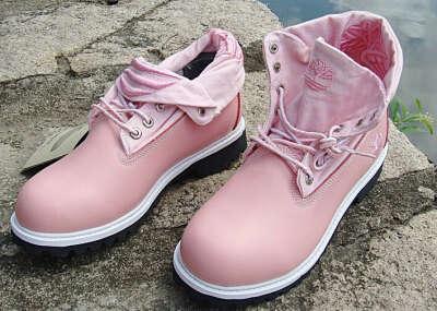Ботинки Timberland розовые