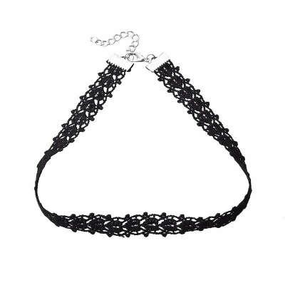 Vintage Black Lace Choker Necklace For Women