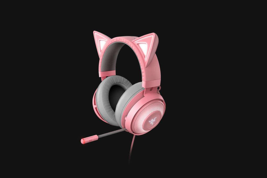 Розовые наушники RAZER KRAKEN KITTY EDITION, QUARTZ