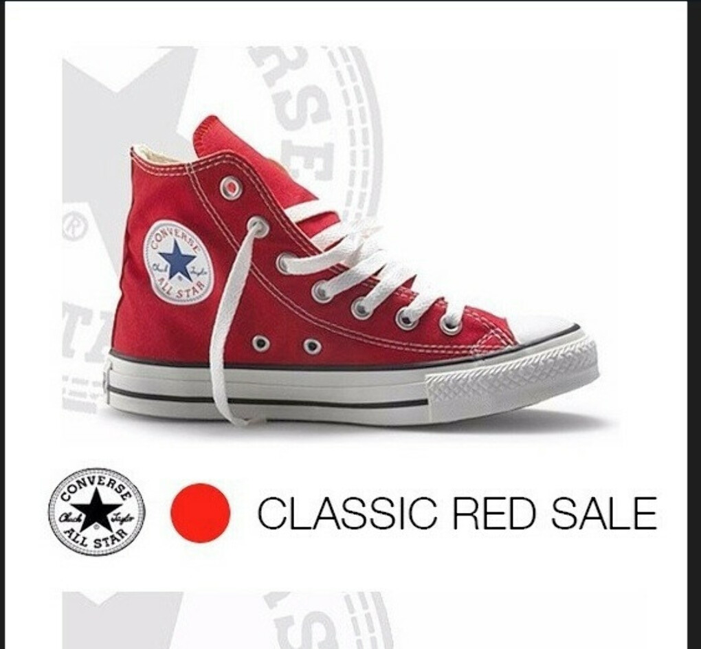 Red Converse (High Top)