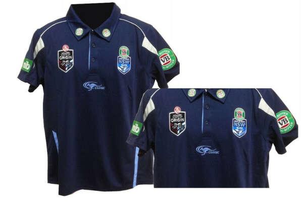 NRL State of Origin NSW Rugby League Replica Polo Shirt (Dark Blue) - Stateoforigin