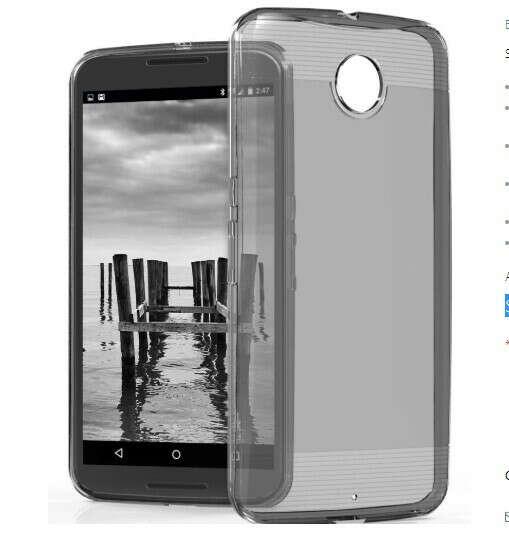 vSkin TPU Design Case for Google Nexus 6