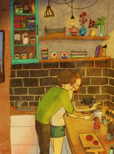 """Книжку иллюстраций корейского художника Puuung """"Любовь в мелочах"""""""