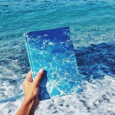 Блокнот с изображением моря