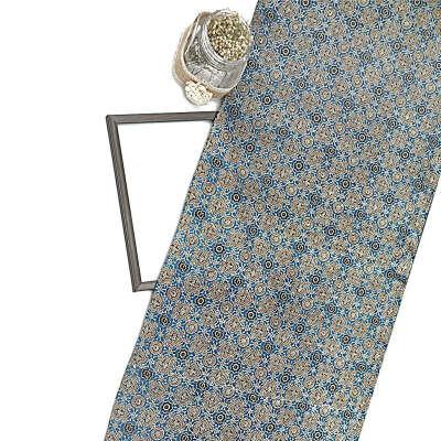 Blue Gajji Silk Ajrak Print Fabric