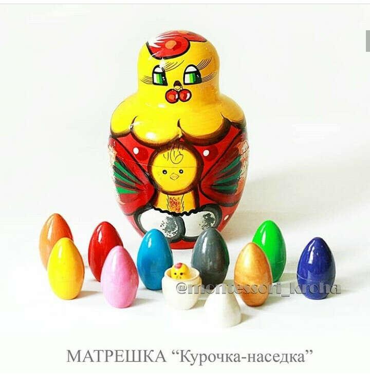 "Матрешка ""Курочка-наседка"""