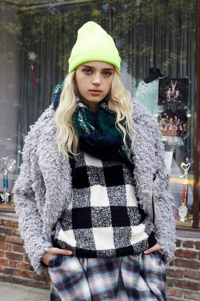 UNIF X UO Furry Moto Coat - Urban Outfitters