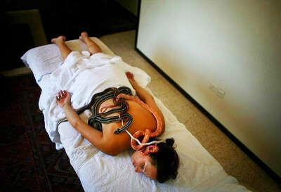 Сеанс необычного массажа