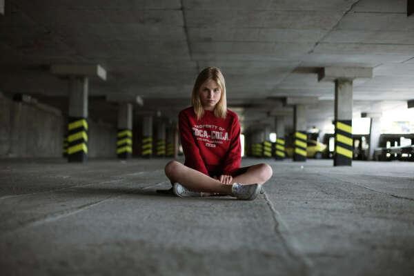 Фотосессия в подземной автопарковке