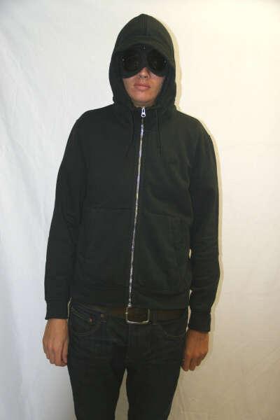 CP Company Black Zip Up Goggle Jumper
