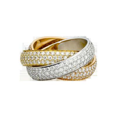Кольцо Trinity, большая модель                          Золото трех цветов, бриллианты                        APT:    N4210800