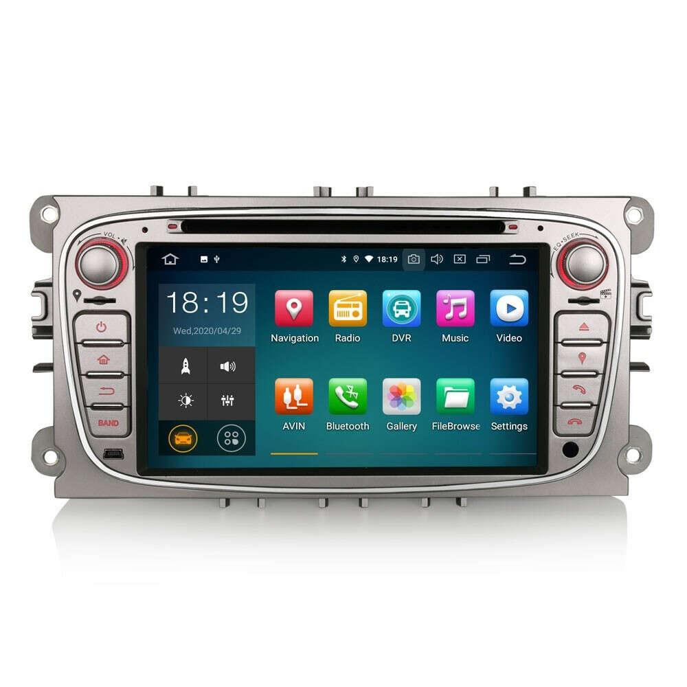"Erisin ES5109FS 7"" Android 9.0 Car Stereo DVD GPS 4G Wifi DAB+ for Ford Focus - Erisinworldwide"