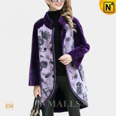CWMALLS® Designer Shearling Pea Coat CW652012