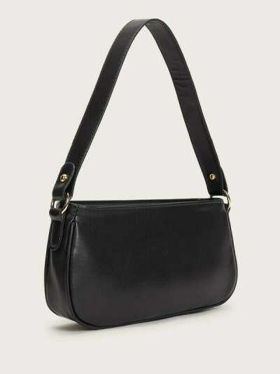 Черная сумка багет