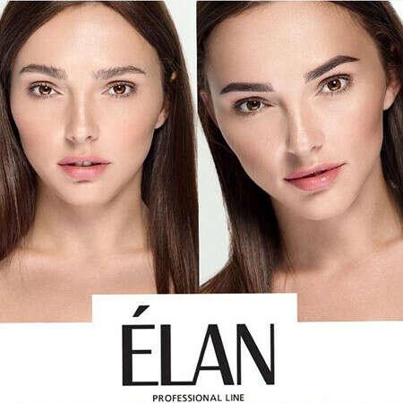 Покрасить брови краской Elan