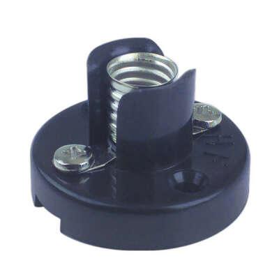 OUTLET Pack de 6 Portalámparas a rosca E-10 Negro Electro DH. Conexión a tornillo 12.060 8430552021482
