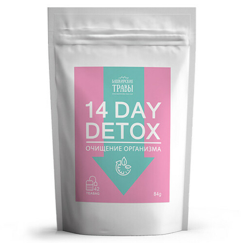 """Травяной сбор """"Detox 14 day"""", очищение организма Biopractika"""