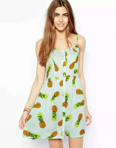 Платье с ананасами с: