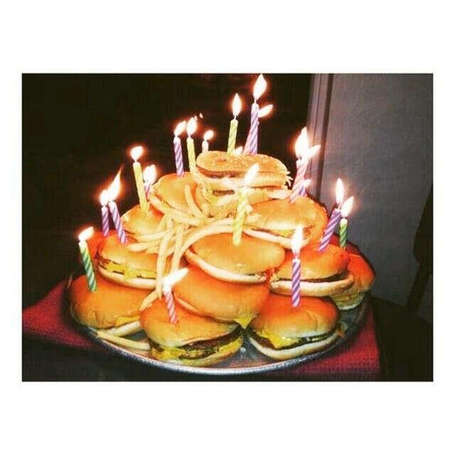 Тортик из бургеров