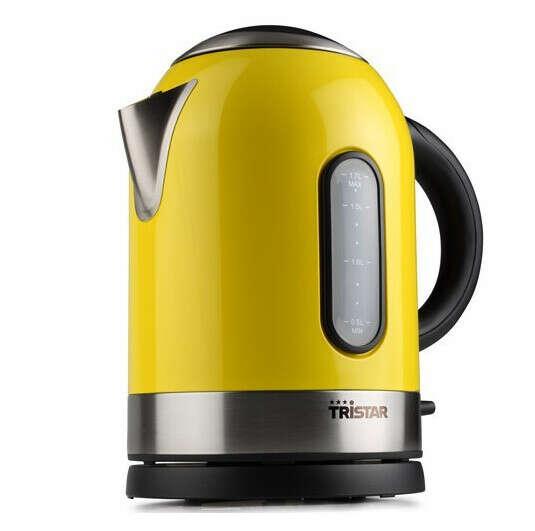 Tristar Edelstahl Wasserkocher gelb Tristar WK-3218