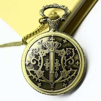 Aliexpress.com: Купить Черный батлер большой кварц карманные часы Kuroshitsuji бронзовый стимпанк женщины мода ювелирные изделия аниме старинные кулон ожерелье из Надежный ожерелье ожерелье поставщиков на Olia fashion watch shop