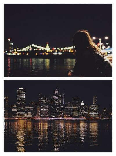 В День Рождения гулять по ночному городу.