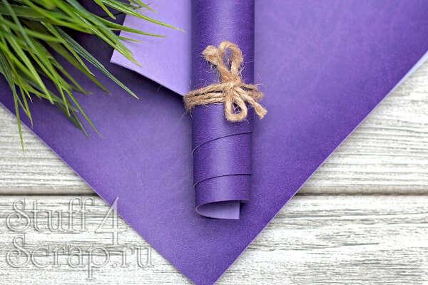Переплетный кожзам фиолетовый