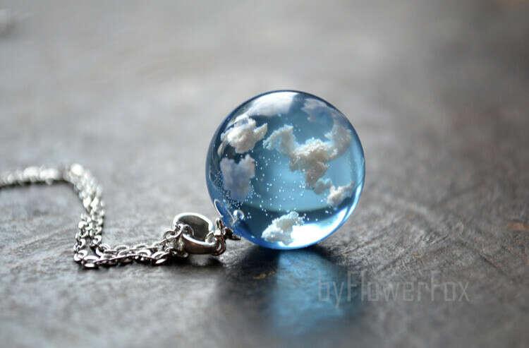 Sky clouds necklace