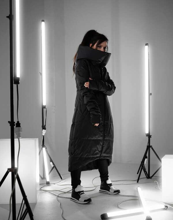Зимнее пальто Enima black от MY SHADOW