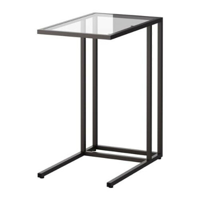 ВИТШЁ Подставка д/ноутбука - черно-коричневый/стекло  - IKEA