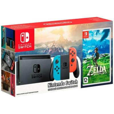 Игровая приставка Nintendo Switch синий/красный +The Legend of Zelda:Breath of the Wild