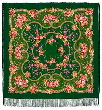 Павловопосадские платки   Шерстяные платки   Пелагея 1544-9  