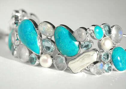 Браслет 'Turquoise' с бирюзой серебряный
