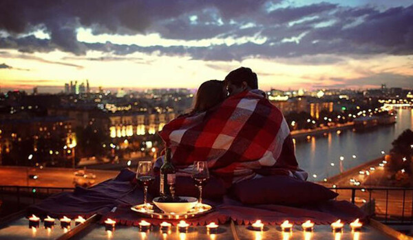 Романтическое свидание на крыше
