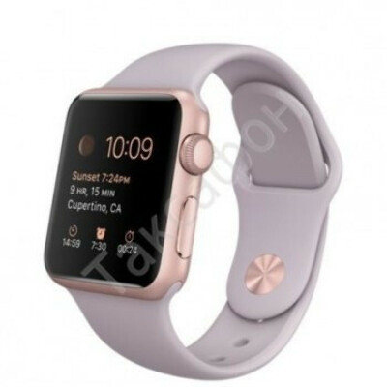 Apple Watch Sport 38mm Rose Gold with Lavender Sport Band MLCH2 (спортивный ремешок серый)