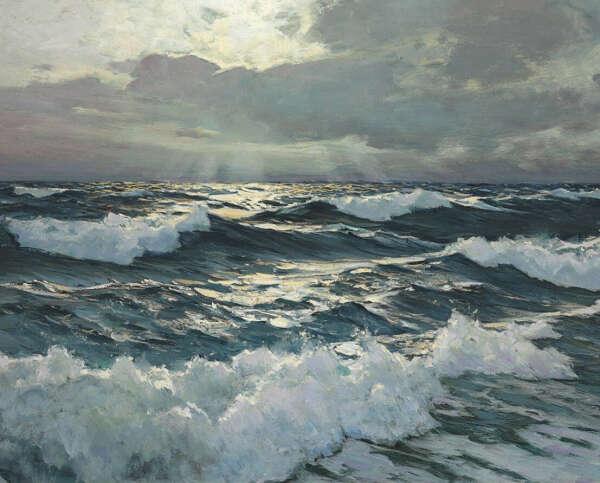 Написать картину с изображением моря