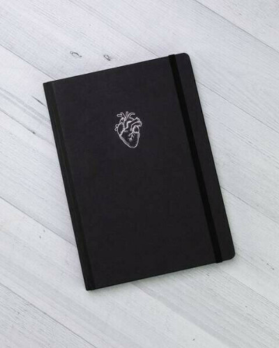 Anatomical Heart Hardcover Journal