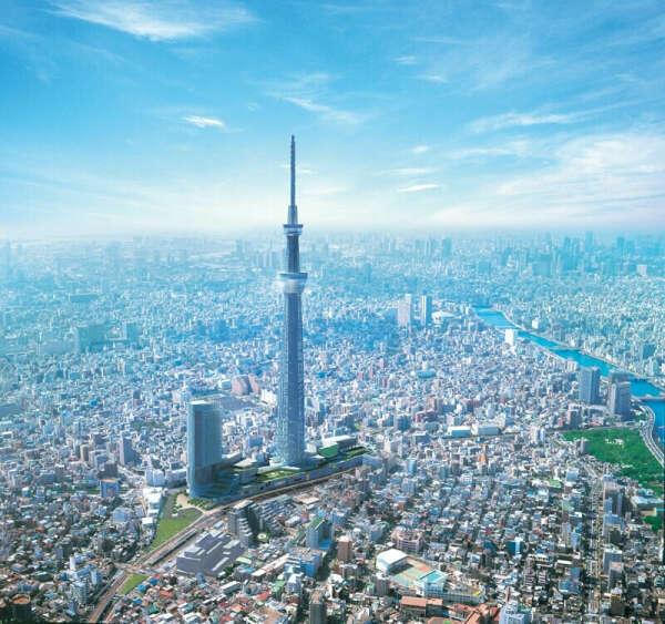 Забраться на самую высокую телебашню в мире Tokyo Sky Tree
