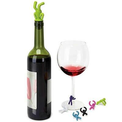 Винный стоппер и маркеры для бокалов