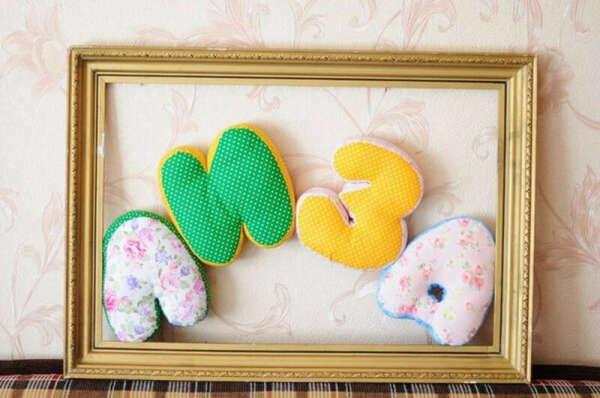 Мягкие буквы-подушки ручной работы купить в Украине