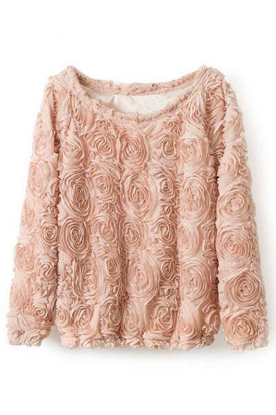 Цветочная розовая шифоновая блузка :)