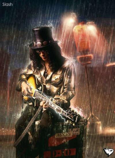 играть на гитаре так же круто, как и Слэш :)
