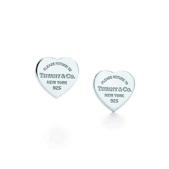 Tiffany & Co. -  Return to Tiffany™: миниатюрные серьги в форме сердца