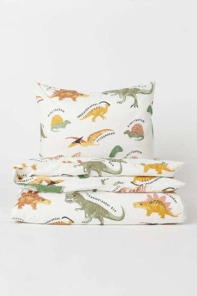 Комплект постельного белья с динозаврами H&M