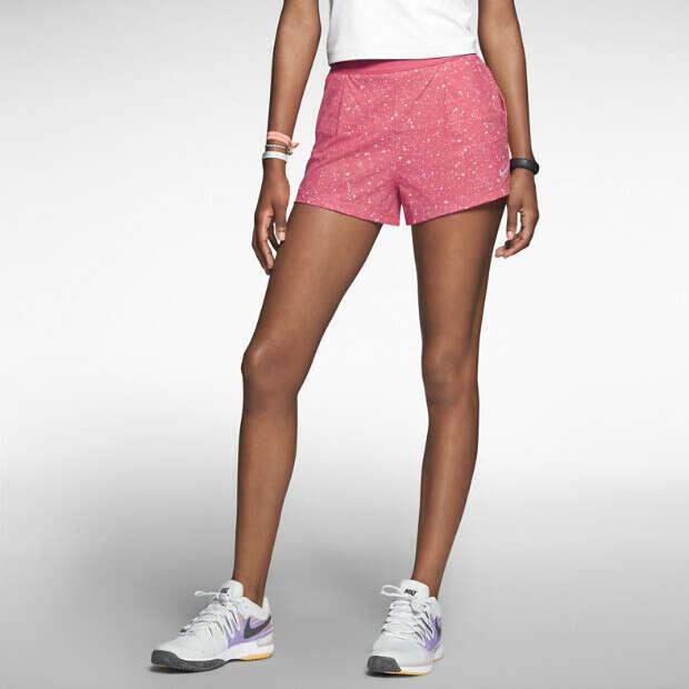 The Nike Printed Woven Women's Tennis Shorts.