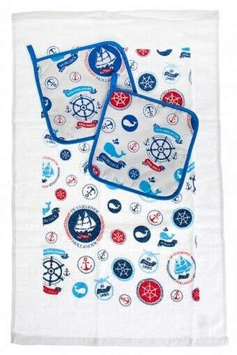 Набор кух. текстиля «Морское путешествие»