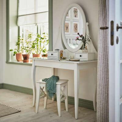 Туалетный столик с зркл, белый100x50 см