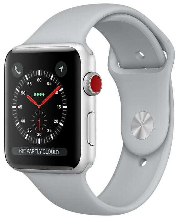 Часы Apple Watch Series 3 Cellular 38mm Aluminum Case with Sport Band — Умные часы и браслеты — купить по выгодной цене на Яндекс.Маркете