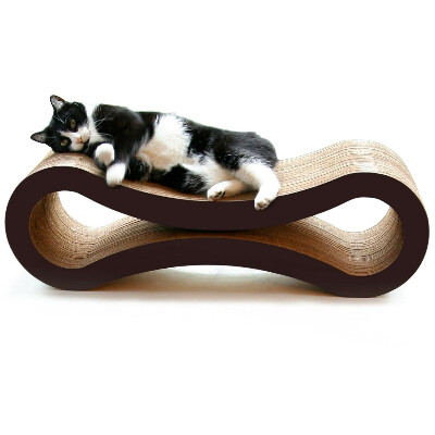 """Новая """"кровать"""" для кота из гофрокартона"""