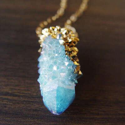 Aqua Spirit Quartz Necklace
